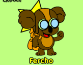 Coloring page Fercho painted byJUAN DAVID