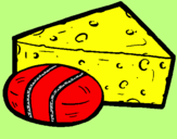 Coloring page Cheeses painted bymattia