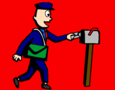 Coloring page Postman painted byJessica