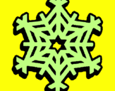 Coloring page Snowflake painted byJUAN DAVID