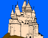 Coloring page Medieval castle painted byAna
