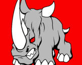 Coloring page Rhinoceros II painted byatila