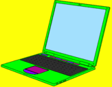 Coloring page Laptop painted byAriana la bella