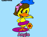 Coloring page Angie painted byJUAN DAVID