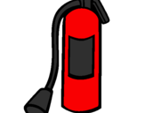 Coloring page Fire extinguisher painted byfire extingusher