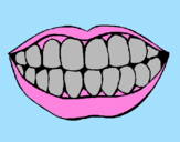 Coloring page Mouth and teeth painted byAna