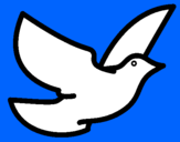 Coloring page Dove of peace painted byAna