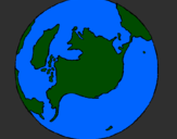 Coloring page Planet Earth painted bypedro