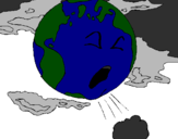 Coloring page Sick Earth painted byXD