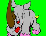 Coloring page Rhinoceros II painted byana mario