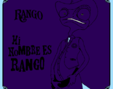 Coloring page Rango painted bysydney
