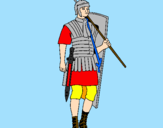 Coloring page Roman soldier painted byf2