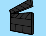Coloring page Clapperboard painted byAna