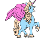 Coloring page Unicorn with wings painted by¨Batmann