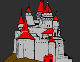 Coloring page Medieval castle painted bysebastian y victor
