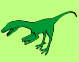 Coloring page Velociraptor II painted byAna