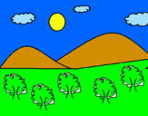 Coloring page Mountain 4  painted byLUIZ EDUARDO
