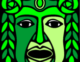 Coloring page Maya  Mask painted byjgeor