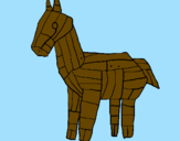 Coloring page Trojan horse painted byAna