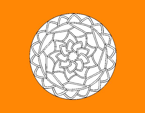Coloring page Mandala 1 painted byxavi4