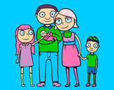 Coloring page Family together painted byTarheels22