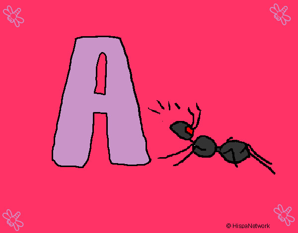 Coloring page Ant painted byaliana
