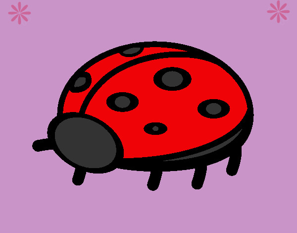 Coloring page Ladybird 4a painted byaliana