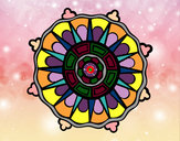 Coloring page Mandala with sun rays painted bySafera