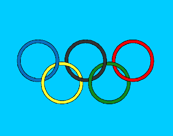 Coloring page Olympic rings painted byaliana