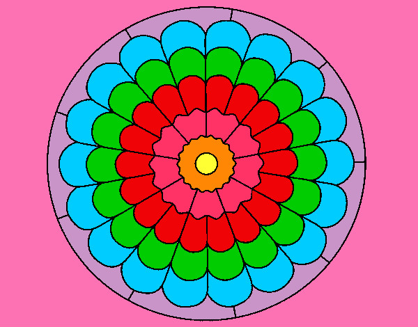 Coloring page Mandala 23 painted byaliana