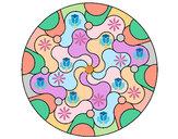 Coloring page Mandala 32 painted bySafera