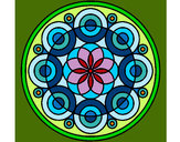 Coloring page Mandala 35 painted byJenesais