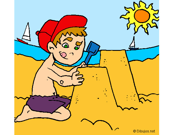 The beach coloring pages  Coloringcrewcom