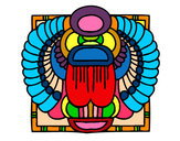 Coloring page Scarab painted bybubbling