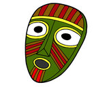 Coloring page Surprised mask painted byAmber