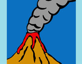 Coloring page Volcano painted bysophie