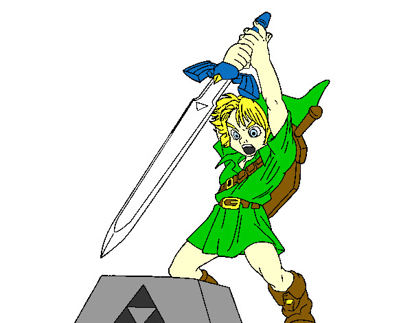 young link - Link Coloring Pages