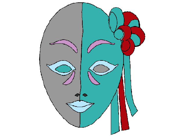 Coloring page Italian mask painted bySafera