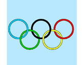 Coloring page Olympic rings painted bycassandra