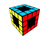Coloring page Rubik's Cube painted bycassandra