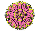 Coloring page Daisy mandala painted bymonieronie