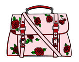 Coloring page Flowered handbag painted bymajja