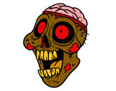 Coloring page Bad zombie painted bydelima