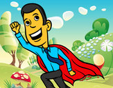 Coloring page Superdad painted bydelima