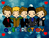Coloring page One direction painted bylola