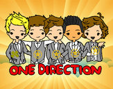 Coloring page One direction painted bybabyjoo2