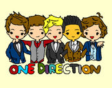 Coloring page One direction painted byDanna