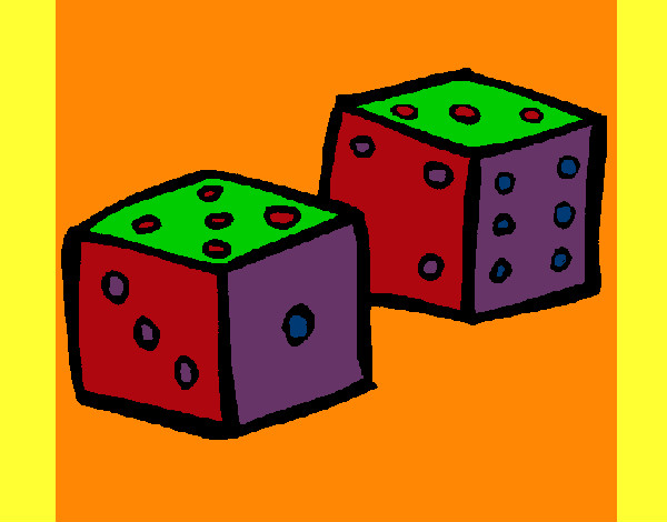 Coloring page Dice painted bymack