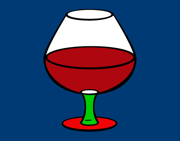 Coloring page Glass of wine painted bymack