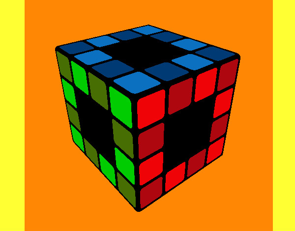 Coloring page Rubik's Cube painted bymack
